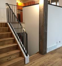 Contemporary Banisters And Handrails Modern Railings Custom Stairs Chicago Modern Staircase Design
