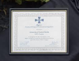 ucf diploma frame shpe ucf awards shpe ucf
