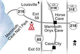 map ok ky rv cgrounds cave kentucky cground cave koa