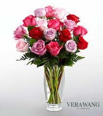 Red Flowers In A Vase The Ftd Captivating Color Rose Bouquet By Vera Wang Vase Included