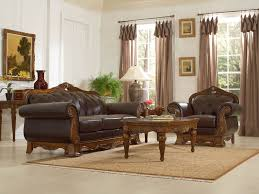 Genuine Leather Living Room Sets Wood And Leather Furniture Wood Trim Genuine Leather Sofa