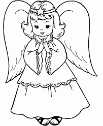 christmas angel holding small grass coloring kids coloring