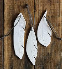 ceramic feather ornament trio home decor u0026 lighting crave