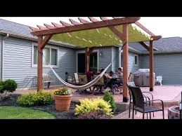How To Build A Covered Pergola by Diy Slide On Wire Hung Canopy For A Pergola I Want This Whole