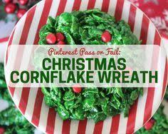 pinterest pass or fail christmas cornflake wreath cornflake