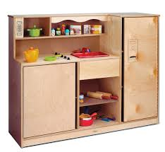 amazon com whitney brothers birch laminate preschool kitchen amazon com whitney brothers birch laminate preschool kitchen combo preschool toy kitchen sets baby