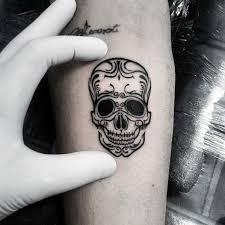 free inner forearm ornate mens small skull designs
