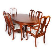 Pennsylvania House Furniture Dining Table With Six Chairs  EBTH - Pennsylvania house dining room set