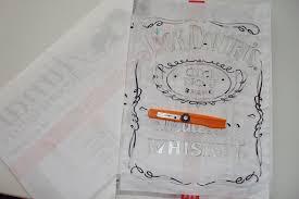 diy stenciled jack daniel u0027s t shirt how to paint a t shirt
