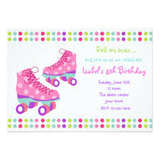 roller skating invitations u0026 announcements zazzle