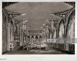 interior view of the gothic dining room in carlton house