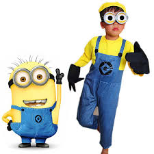 Halloween Minion Costumes Anime Despicable Cosplay Costumes Kids Halloween Carnival Fancy