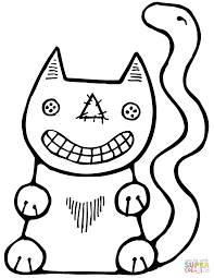 halloween cat coloring page free printable coloring pages