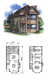 narrow lot house plan 2080 sq ft 3 bedrooms and 2 5 bathrooms