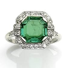 1920s engagement rings 1920s emerald and diamond ring antique engagement rings