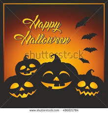 fun cute cartoon halloween post card stock vector 474810421