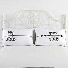 his and hers pillow cases my side and your side pillowcases couples gift his