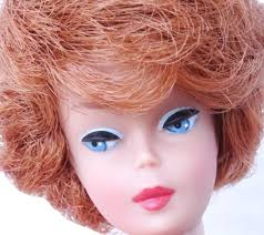 bubble cut hairstyle rare vintage redhead bubble cut barbie doll w color magic face