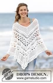 drops design poncho light s embrace drops 169 4 free crochet patterns by drops design