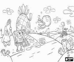 spongebob patrick and jellyfish coloring page printable game