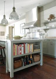 Kitchens With Shelves Green | gray green kitchen cabinets cottage kitchen benjamin moore