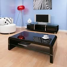 Black Gloss Glass Coffee Table Coffee Table Rectangular Black Gloss Glass Shelf Modern Ag Studios