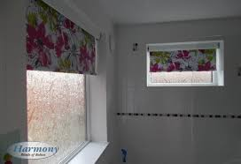 floral waterproof roller blinds in a bathroom harmony blinds of