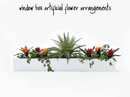 artificial flower arrangements for window boxes