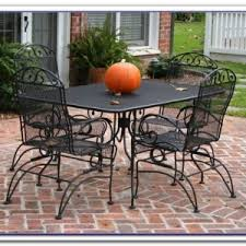 Wrought Iron Patio Furniture Manufacturers Vintage Wrought Iron Patio Furniture Patios Home Design Ideas