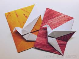 a year of origami origami crane card by didier boursin