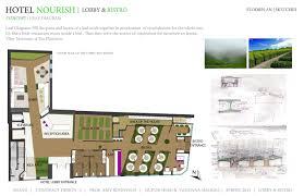 floor plan sketches hotel nourish lobby bistro guestrooms 1st runner up a u0027design