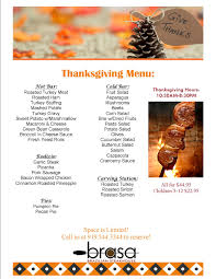 thanksgiving brasa steakhouse raleigh nc