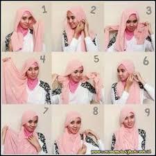 tutorial jilbab jilbab gambar cara pakai selendang gaya ringkas cantik zolace com