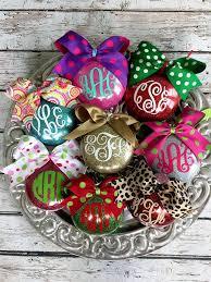 personalized monogrammed glitter ornaments glitter ornaments