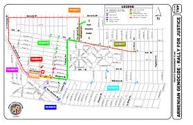 Los Angeles Street Map by Armenian March For Justice And Street Closures On Monday
