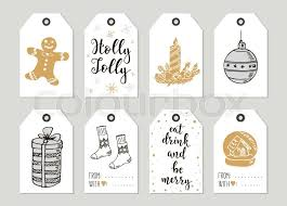 new year items merry christmas and happy new year vintage gift tags and cards