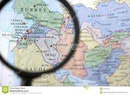 Syria On A Map by Syria Map Stock Photo Image 46185945
