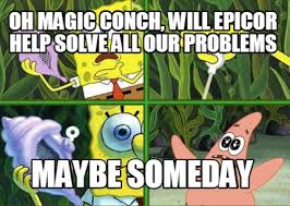 The Conch Has Spoken Meme - meme maker oh magic conch will epicor help solve all our problems