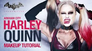 arkham city harley quinn makeup tutorial youtube