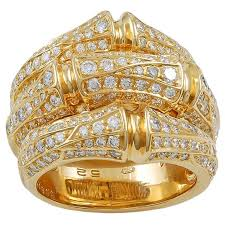 cartier design rings images Cartier diamond gold bamboo ring for sale at 1stdibs jpg