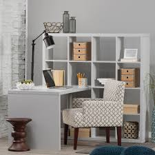 Office Desk With Shelves by Hudson 16 Cube Shelf With Desk Gray Hayneedle