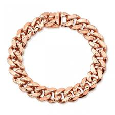 rose link bracelet images 14k rose solid gold cuban link bracelet jpeg