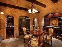 amazing interior home wine room design ideas with neutral beige
