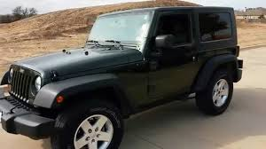 2010 optic green jeep wrangler 2dr hardtop 55k youtube