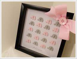 Decor Baby by 3d Elephant Art In Framed Shadow Box Custom Baby Room