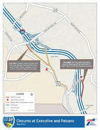 Interstate 10 Map Map Go10 Txdot Closures For The Week Of March 5 El Paso