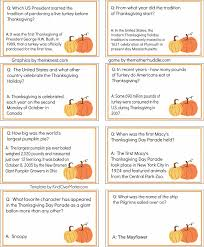 printable thanksgiving trivia 25 questions happy thanksgiving