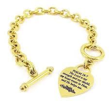 gold pendant chain bracelet images Stainless steel gold heart chain bracelet jpg