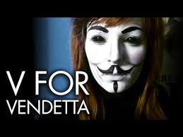 V For Vendetta Mask V For Vendetta Mask U2022 Make Up Tutorial Youtube