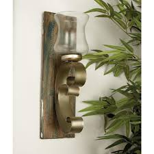 home accents at the home depot 20 in new traditional hand forged curved metal candle sconces set of